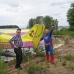 Teräsmies laskeutui Nenäpään rantaan