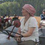 Marika Lemström johti traktoriparaatia.