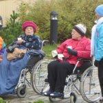 Vanhukset ulkoilivat Pälkäneellä