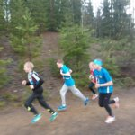 Kalle Kataja juoksi 13-vuotiaissa pojissa 22. tilalle.