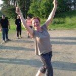 Voittajan on helppo hymyillä, huomasi Hanna Linnamäki.