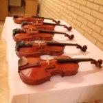 Illan aikana kuultiin viittä Kukkian rannalla syntynyttä viulua.