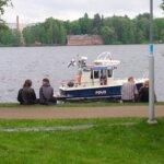 Poliisi, Poliisivene, ruori, poliisilaiva, vene,  ruorijuoppo, kesä,