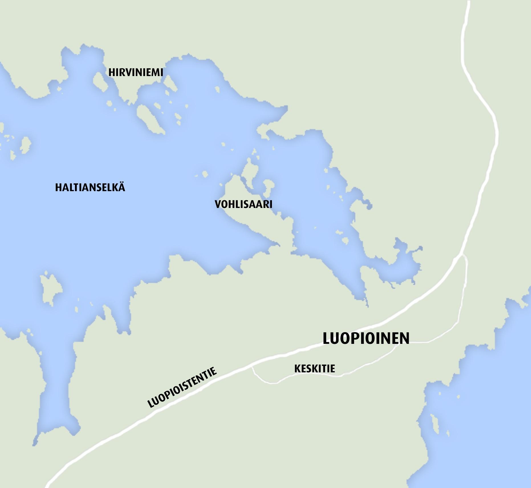 Hirviniemi Kartta Sydan Hameen Lehti