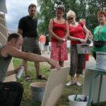 Jonas Helin esitteli maalaus- tapetointi- ja laatoitustöitä vuoden 2009 Pälkäne palvelee ja tuottaa -näyttelyssä.