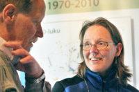 Taina Korpiharju esitteli haja-asutusalueiden jätevesien puhdistusratkaisuja muutama vuosi sitten Vuolijoella.