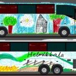 Bussi kuljettaa iloista Pälkäne-kuvaa