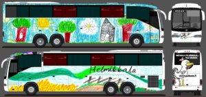 Tältä Pälkäne-bussi näyttää valmiina.
