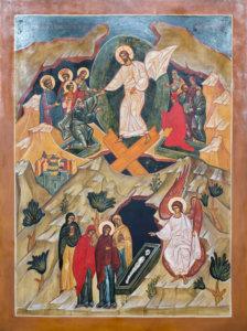 Golgatan risti muistuttaa suuren perjantain eli pitkäperjantain tapahtumista eli siitä, kuinka Jeesus kuoli ristillä. Kuva: Rami Marjamäki.