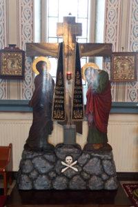 Golgatan risti muistuttaa suuren perjantain eli pitkäperjantain tapahtumista eli siitä, kuinka Jeesus kuoli ristillä.
