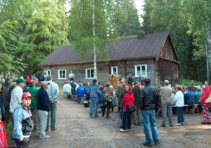 Rajalan ehostetun kämpän avajaiset 28.6.2005.