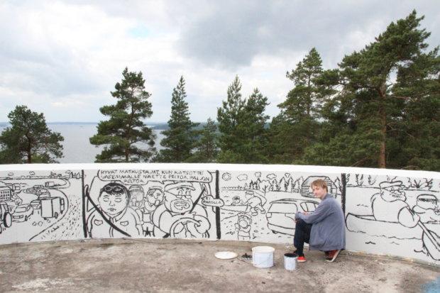 Tommi Lahtisen sarjakuvassa on tarkkaan mietitty draaman kaari.