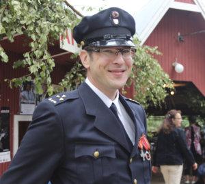Onkkaalan VPK:n puheenjohtaja Markku Ruokonen palkittiin Suomen Sopimuspalokuntien liiton pronssisella ansiomitalilla.