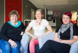 Kirsi Urkko, Minna Liljedahl ja Katri Laaninen ovat energisiä naisia, jotka haluavat jakaa hyvää oloa muillekin yritystensä kautta.
