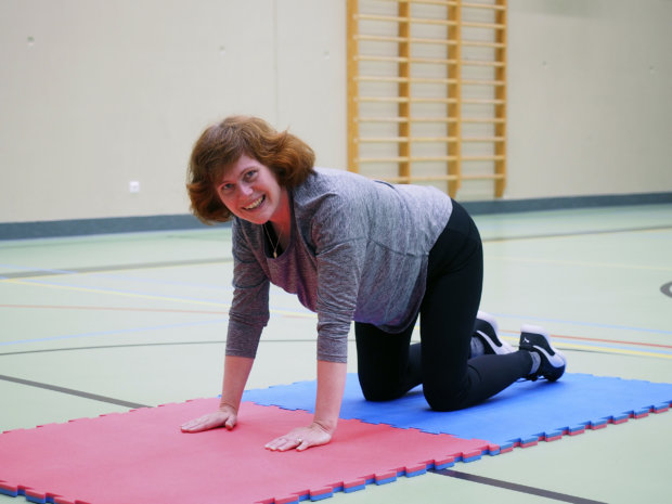 Anne Kärpänniemi uskoo, että liikuntastartti lisää hänen liikkumistaan. – Ei reippaampaa vaihdetta viitsisi jättää tähän.