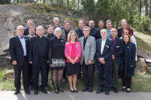 Kirkolliskokouksen perustevaliokunta kaudella 2016-2020.