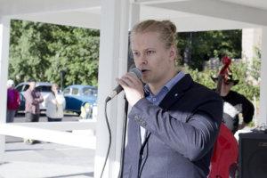 – Tori ilman ihmisiä on kallista infraa, hallintojohtaja Tuomas Hirvonen sanoi Pälkäneen uudistetun torin avajaisissa.