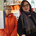 Eija Marttila kertoi kävijöille Puutikkalan Puodin toimnnasta.