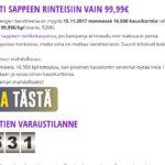 Kausikorttikampanja kaatoi Sappeen nettisivut