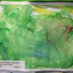 Lapset äänestivät Arkkiin esille myös tekemiään piirustuksia.