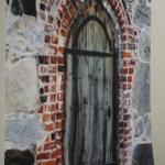 Seinävaatteiden kuosissa on käytetty rauniokirkosta otettuja valokuvia.