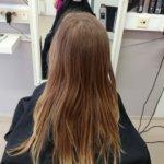 Hiukset ennen leikkausta.