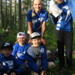 Luja-Lukon nuoret suunnistivat oravapolkuviestissä