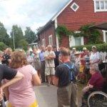 Yli viisikymmentä henkilöä kokoontui kuuntelemaan asiaa Kuohijoen paikallishistoriasta. Kuva: Kari Laine