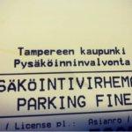 """Palautetta pysäköinnistä – """"parking fine"""""""