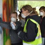 Non-stop -graffitityöpaja luo uuden ilmeen päiväkodille