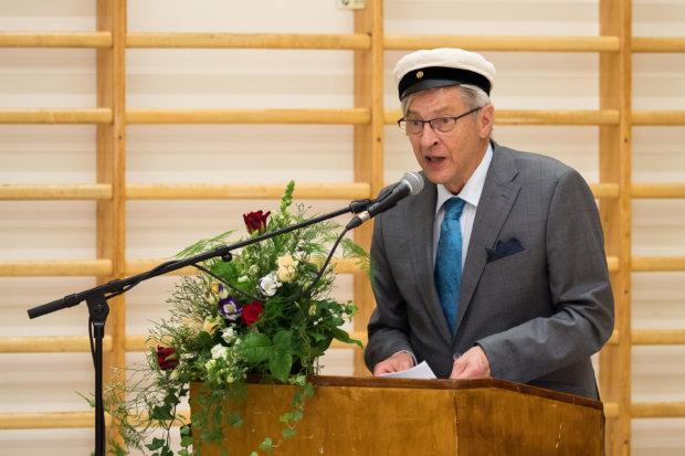 Riemuylioppilaan puheen piti Hannu Heikkilä. Kuva: Hannu Söderholm