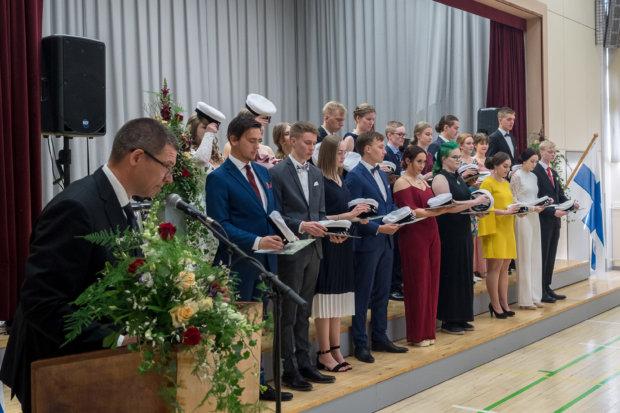 Pälkäneen lukiosta valmistui tänä keväänä 20 ylioppilasta. Kuva: Hannu Söderholm