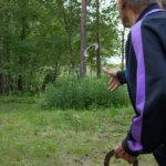 Erkki Vesanen osallistui hevosenkengänheittoon.