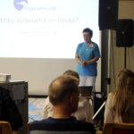 Leena Ilmoila puhui Kukkian kyläasumisen messuilla kyläelämästä.