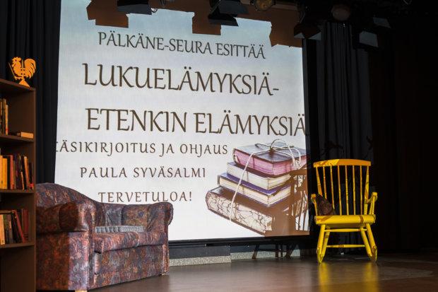 Lukuelämyksiä Pälkäneen teatterilla. Kuva: Hannu Söderholm.