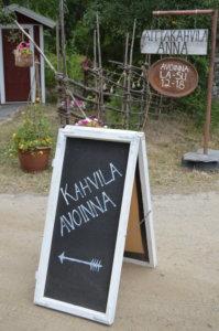 Tänä kesänä kahvila on auki vielä kahtena viikonloppuna.