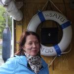 Nina Salo-Kallioinen nautti Satun kyydistä.