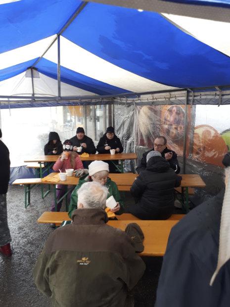 K-Market Järvikansan tapahtumassa kävi paljon asiakkaita.