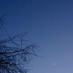 Kuu ja Venus taivaalla