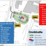 Linja-autopysäkkien paikat vaihtuvat Kangasalan torilla