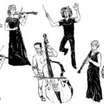 Tampere Filharmonia tavoittelee sarjakuvilla uutta konserttiyleisöä – sarjakuvataiteilija Ville Pirinen innostui harpun äänen ja muotojen vangitsemisesta kuvaan