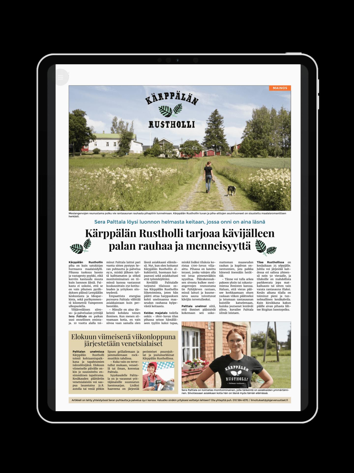 Sydän-Hämeen Lehti sisältömarkkinointi