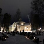 Tunnelmallinen ja niin kaunis Luopioisten hautausmaa ja kirkko