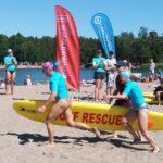 Mari Kiuru ja Biitsi Pirkot hyvässä vauhdissa rantapelastuksen SM-kilpailuissa